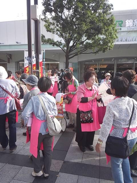 10/11(土) 錦糸町駅北口にて東婦協署名行動を行いました。